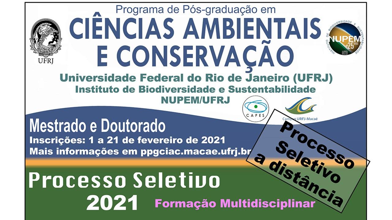 PROCESSO SELETIVO PPG-CIAC 2021 – MESTRADO